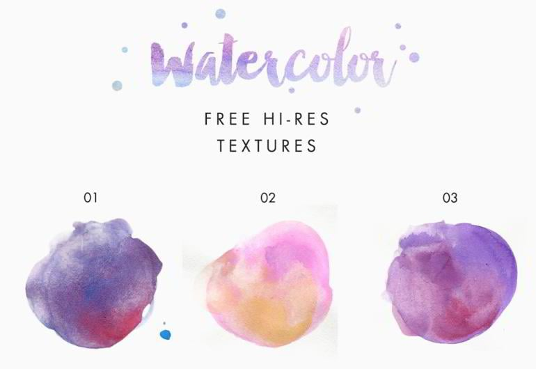 Free Watercolor Texture Kit