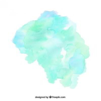 watercolor paint stain green blue