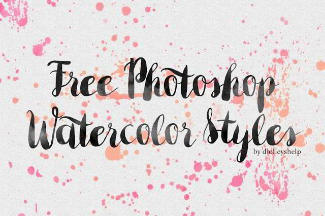 Free Photoshop Watercolor Styles