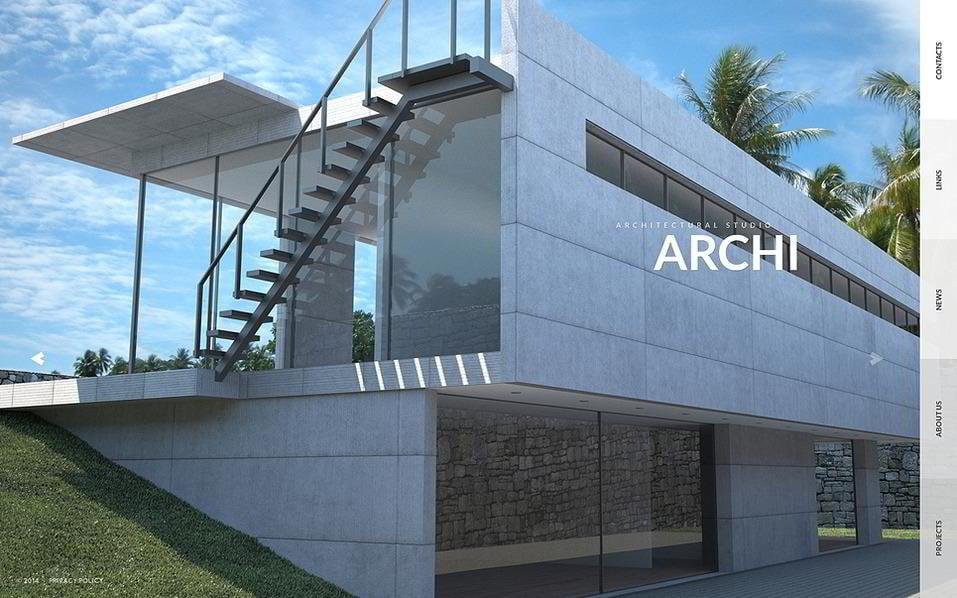 20 Premium Architecture HTML5 Templates for Bureaus and Construction
