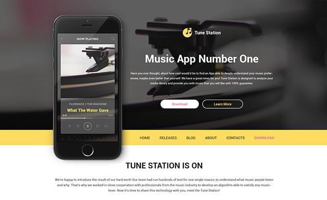 Tune Station WordPress Theme