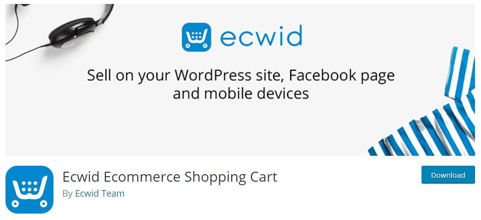 Ecwid eCommerce plugin