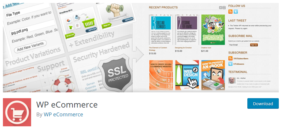 WP eCommerce plugin