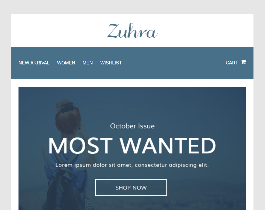Zuhra - Ecommerce Email Template