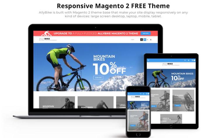 AllyBike - FREE Sports eCommerce Magento Theme.