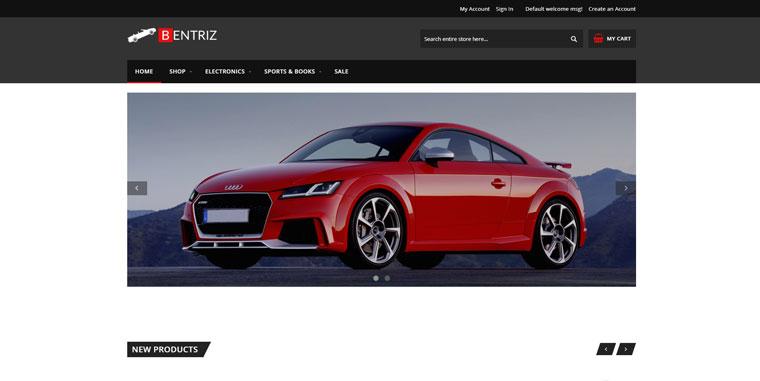 Bentriz - Free Auto Parts Responsive Magento 2 Theme.