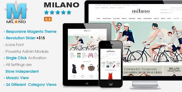 Milano – Responsive Magento Theme.