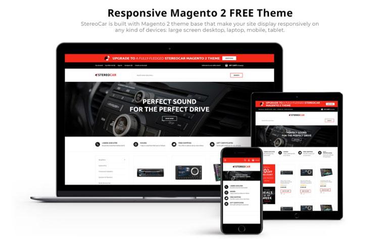 StereoCar - FREE Audio eCommerce Magento Theme.