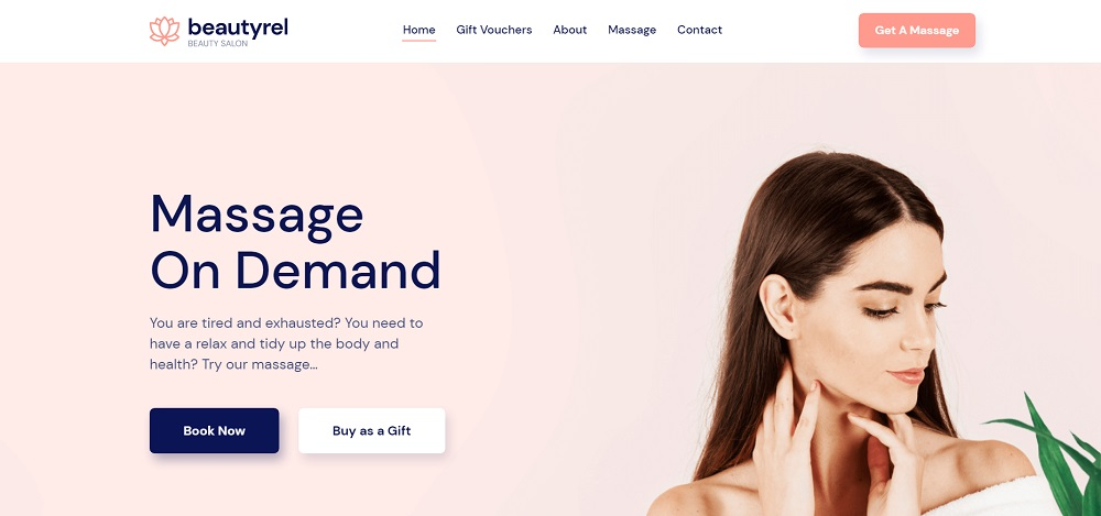 Beautyrel - Relaxing Massage Therapy WordPress Theme