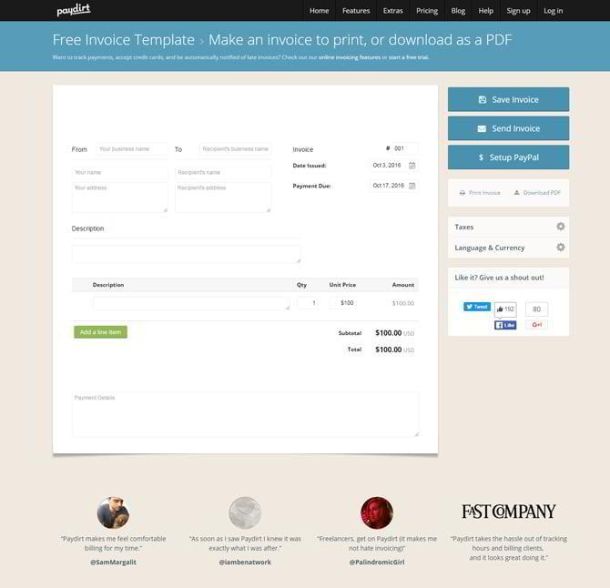free invoicing tools