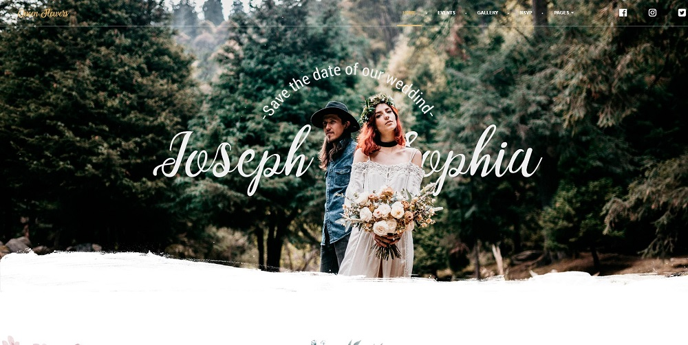 QueenFlowers - Wedding WordPress Theme