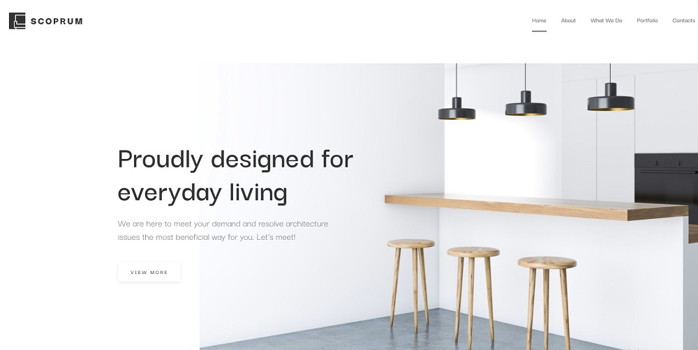 Scoprum - Furniture design for classy studios WordPress Theme