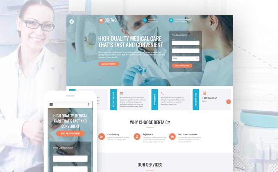 dental-center-website-bootstrap-template