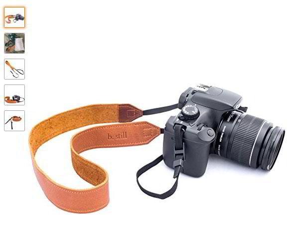 b-still-camera-strap-leather-with-nylon-webbing-for-leica-canon-nikon-fuji-olympus-lumix-sony-free-lens-bag