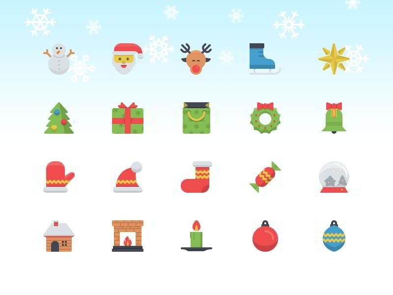 christmas-flatilicious-icons-by-zlatko-najdenovski