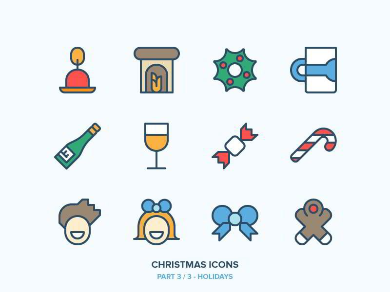 christmas-icons-freebie-33-holidays-by-benjamin-bely
