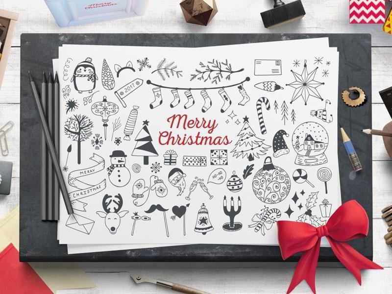 cozy-christmas-free-vector-set
