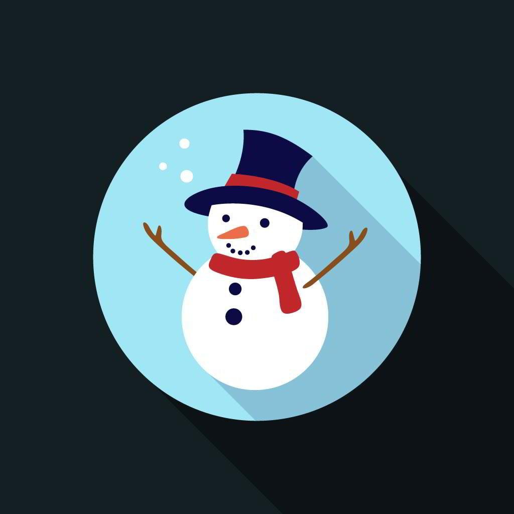 free-flat-snowman-icon-video-tutorial-by-pixaroma