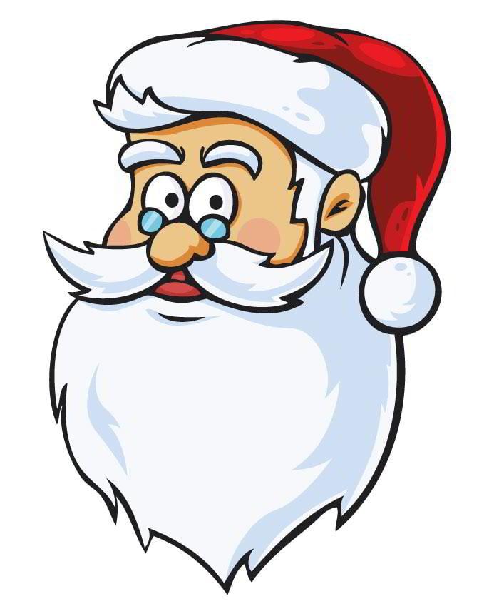 free-santa-vector-head