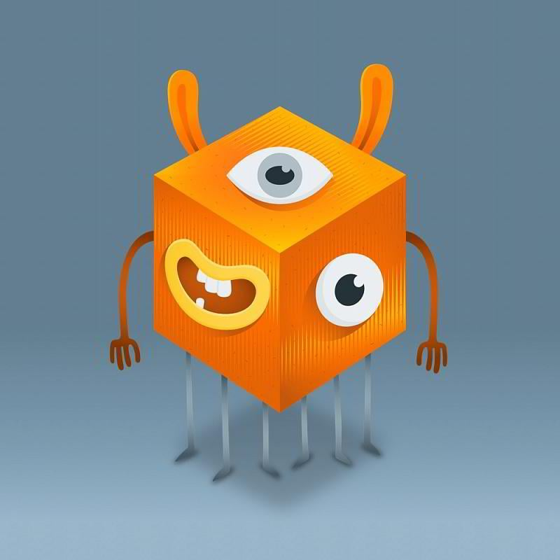 Waz TemplateMOnster mascot