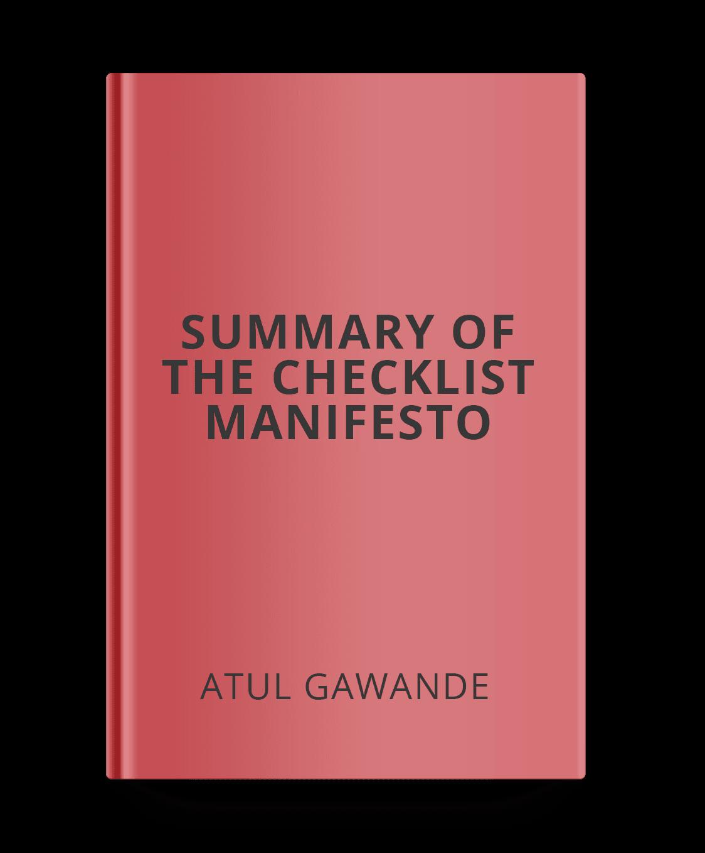 summary-of-the-checklist-manifesto