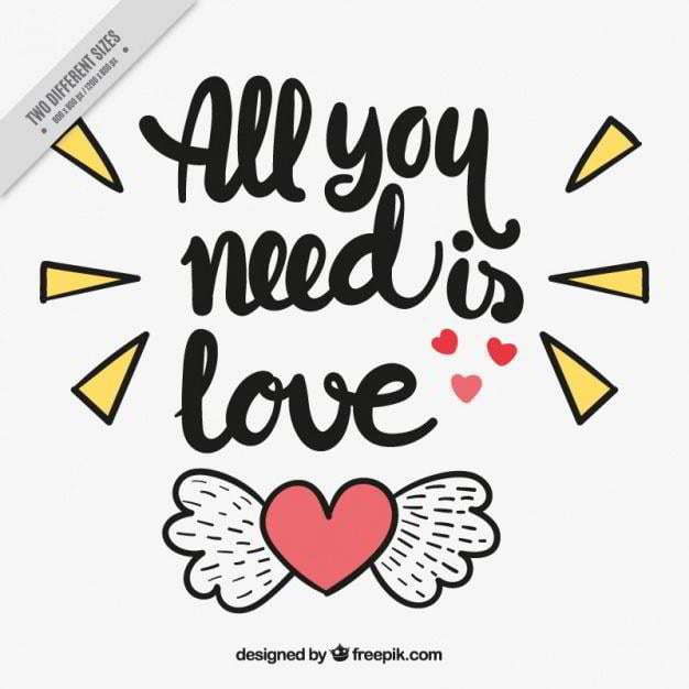 background-of-heart-with-wings-and-loving-phrase-free-vector-by-freepik