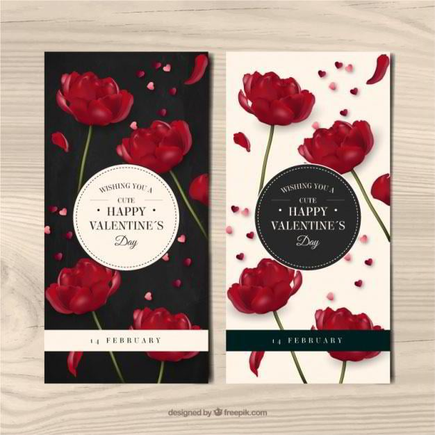 banners-of-red-flowers-in-realistic-style-free-vector-by-freepik