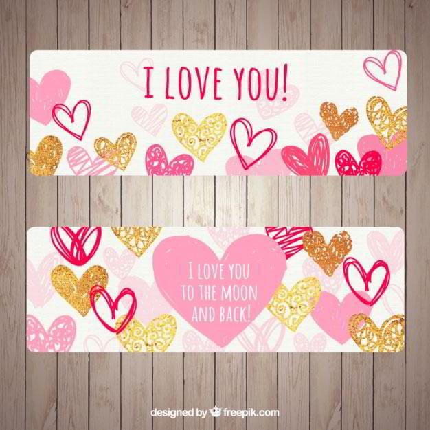 beautiful-banners-with-different-types-of-hearts-free-vector-by-freepik