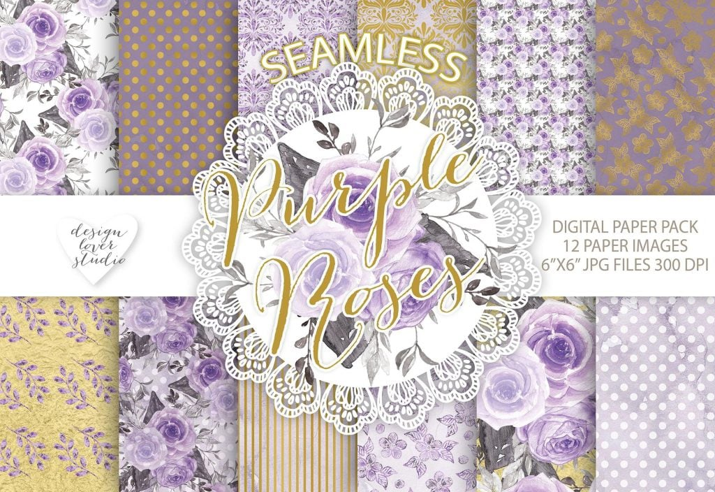 Watercolor Rose: 2 Packs of Seamless Patterns with 71% OFF