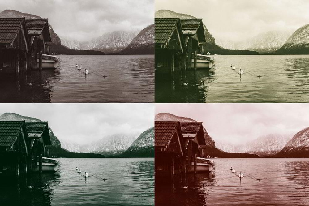 Examples of duotone images similar to what were used in print