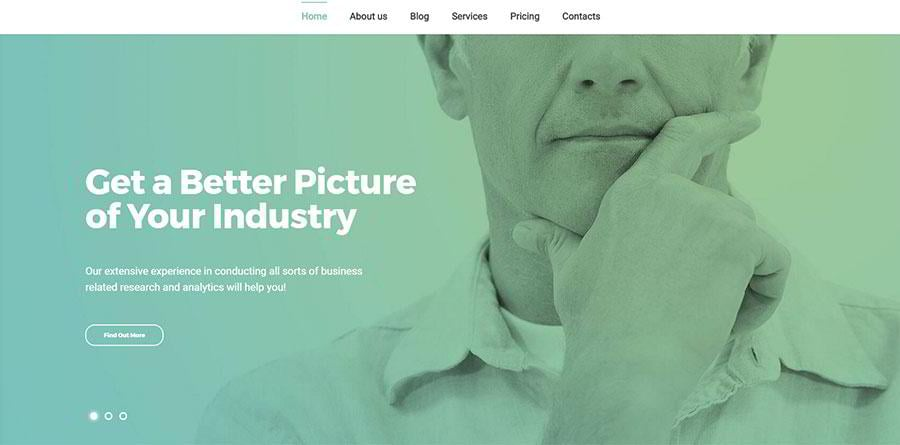 An example of a duotone effect in Marshall WordPress theme