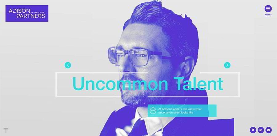 Design of Adison Partners agency