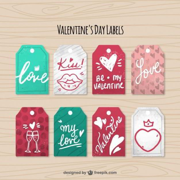 fantastic-pack-of-eight-valentines-day-labels-free-vector-by-freepik