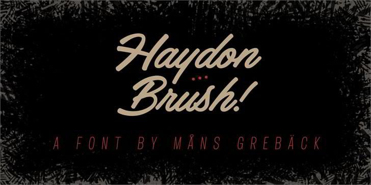 haydon-brush-personal-use-font