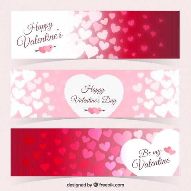 hearts-banners-pack-for-valentine-day-free-vector-by-freepik