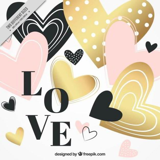 hearts-valentine-background-with-golden-details-free-vector-by-freepik