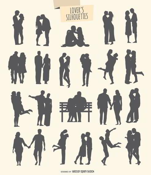 kit-of-21-silhouettes-of-lovers