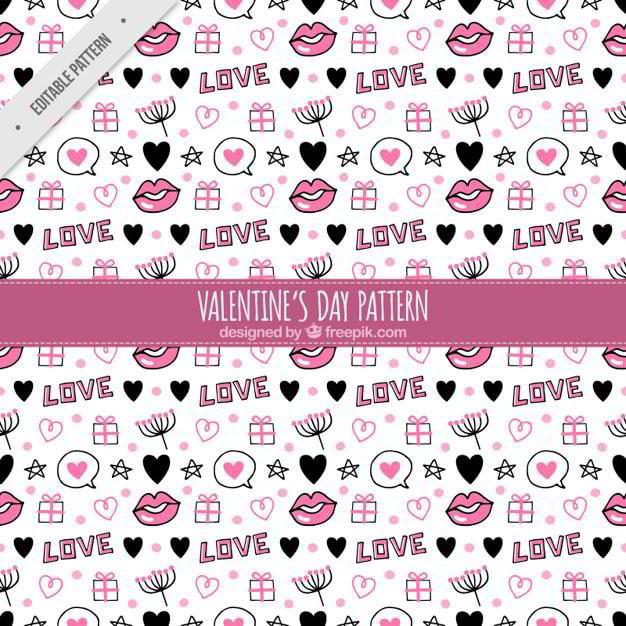 pattern-of-hand-drawn-valentine-elements-free-vector-by-freepik