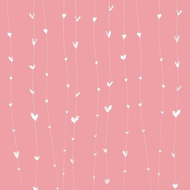 pink-background-with-white-hearts-on-lines-free-vector-by-renatas