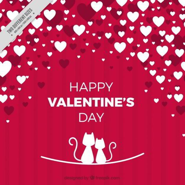 red-and-white-background-with-hearts-and-cats-free-vector-by-freepik
