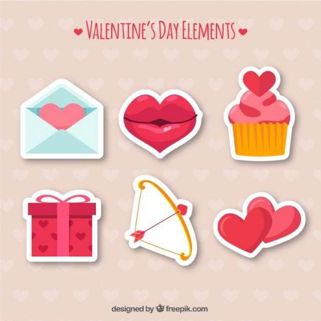 set-of-six-elements-ready-for-valentines-day-free-vector-by-freepik