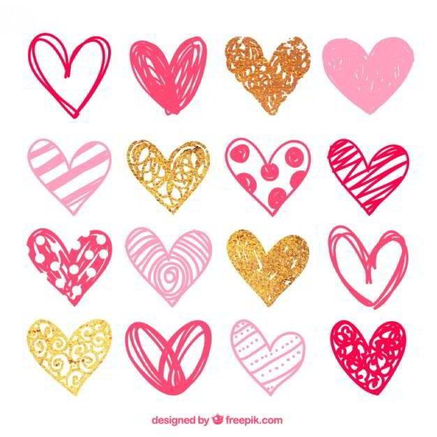 sketchy-pink-hearts-pack-free-vector-by-freepik