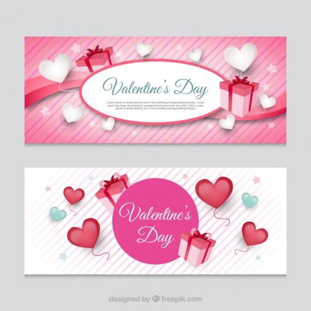 striped-banners-with-hearts-and-gifts-free-vector-by-freepik