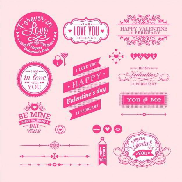 valentines-badges-on-a-pink-background-free-vector-by-kraphix