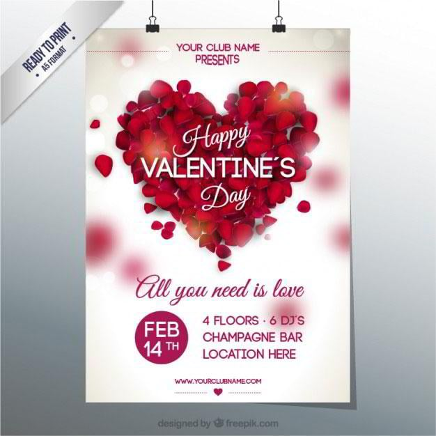 valentines-club-party-poster-free-vector-by-freepik