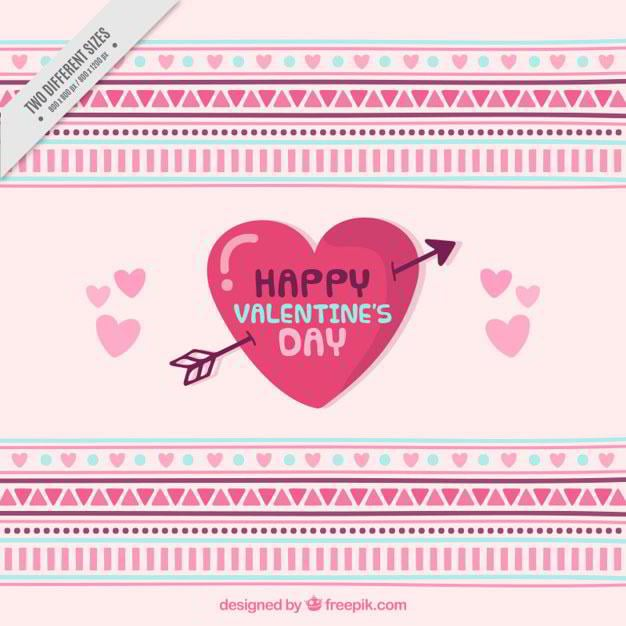valentines-day-background-with-geometric-shapes-free-vector-by-freepik