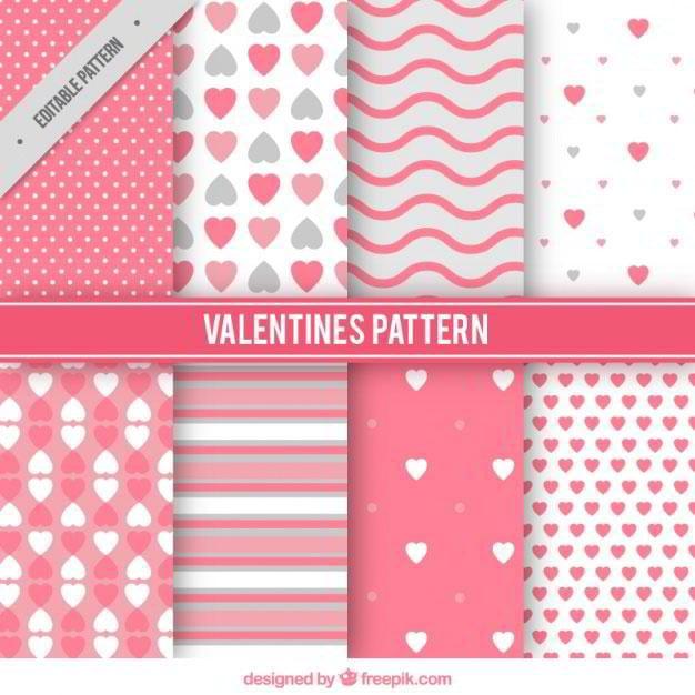 variety-of-valentine-patterns-free-vector-by-freepik