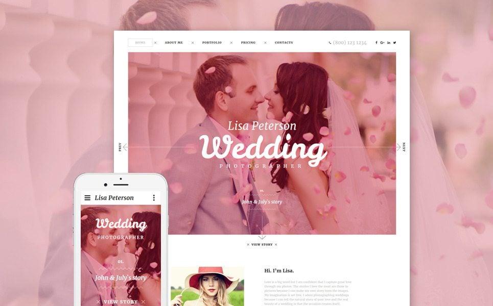 wedding portfolio website templates