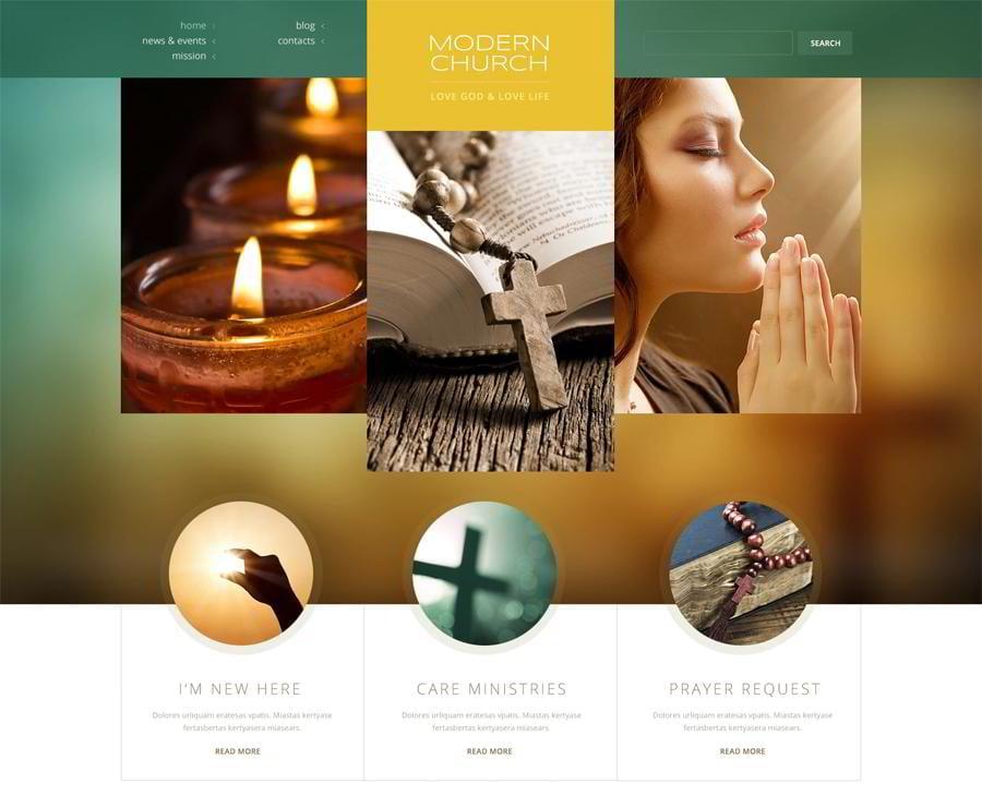 Religious Responsive WordPress Theme