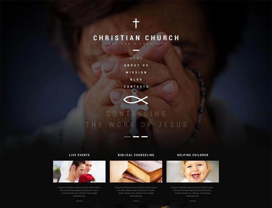 Christian Church WordPress Theme